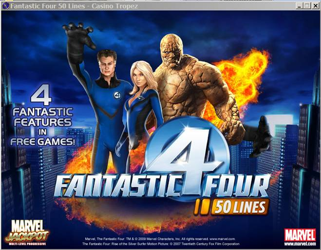 Fantastic Four Pokie From Playtech